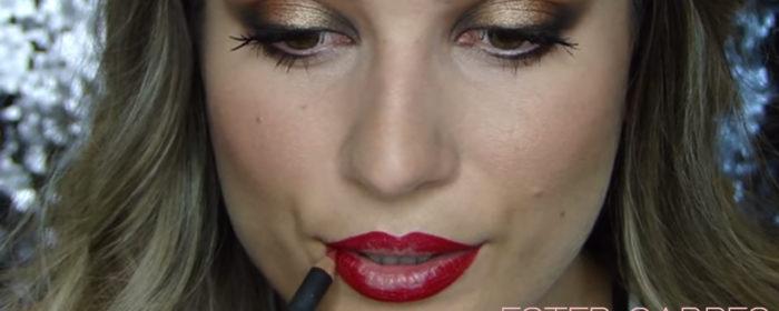 Bloody lips → maquillaje de noche