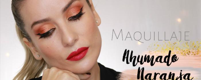 Maquillaje: Ahumado Naranja paleta Morphe 35O